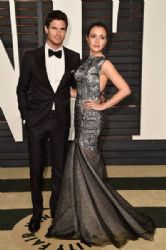 Robbie Amell and Italia Ricci: 2015 Vanity Fair Oscar Party