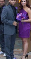Demi Lovato and boyfriend Wilmer Valderrama celebrate the wedding of pals Tiffany Thornton and Christopher Carney