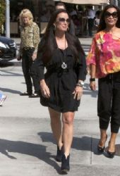 Kyle Richards was seen taking a walk with a friend in Los Angeles