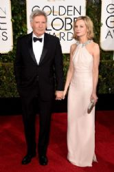 Harrison Ford and Calista Flockhart: 72nd Annual Golden Globe Awards 2015- Arrivals