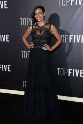 Rosario Dawson wears Elie Saab - Top Five New York Premiere