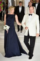 Princess Charlene Of Monaco wears Christian Dior Couture - Monaco Red Cross Gala