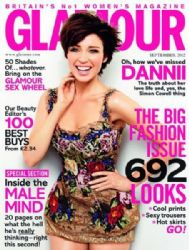 Dannii Minogue: September 2012 issue of Glamour UK magazine
