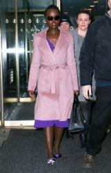 Lupita Nyong'o in Escada 'Cardonay' Coat :  Leaves the 'Today' Show