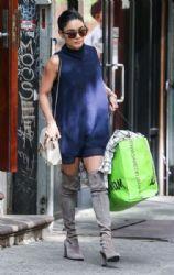 Vanessa Hudgens: leaving her apartment in New York City