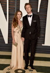 Shauna Robertson and Edward Norton : 2015 Vanity Fair Oscar Party
