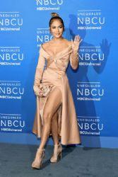 Jennifer Lopez  in Elie Saab Dress : 2017 NBCUniversal Upfront