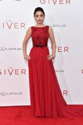 Odeya Rush wears George Hobeika - 'The Giver' NY Premiere