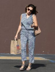 Kelly Brook stops by Rite Aid in Los Angeles, California to purchase some miscellaneous items