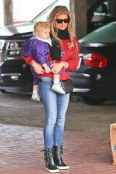 Fergie wears Celine - out and about in Los Angeles December 21, 2014