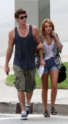 Miley Cyrus & Liam Hemsworth Out & About