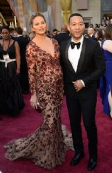 John Legend and Chrissy Teigen: 88th Annual Academy Awards - Arrivals
