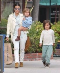 Kourtney Kardashian: takes her kids Mason and Penelope shopping for toys at Toy Crazy in Malibu