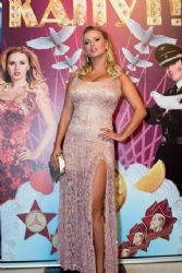 Anna Semenovich at the premiere of 'Gitler kaput!'
