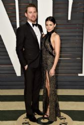 Jenna Dewan Tatum and Channing Tatum: Elton John AIDS Foundation Oscars 2015 Viewing Party