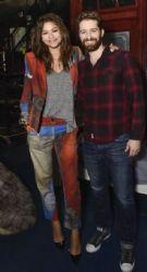 Zendaya and Matthew Morrison backstage at