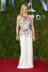 Elisabeth Moss wears Oscar de la Renta - 2015 Tony Awards