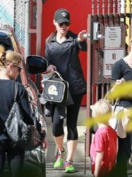 Sandra Bullock: out and about with her son Louis in Los Angeles