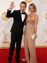 Aaron Paul and Lauren Parsekian: Primetime Emmy Awards 2013