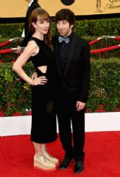 Jocelyn Towne and Simon Helberg: 21st Annual Screen Actors Guild Awards - Arrivals