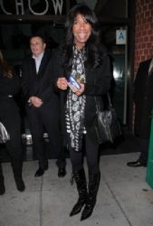 Natalie Cole spotted at Mr Chow restaurant in Beverly Hills