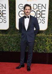 Milo Ventimiglia wears  wears Ralph Lauren :  74th Annual Golden Globe Awards
