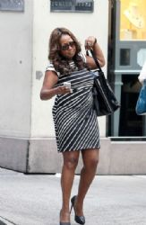 Star Jones: out and about Madison Avenue in Manhattan