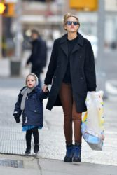 Leelee Sobieski: seen with her daughter in Tribeca