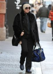 Deborah Harry made her way out in New York City