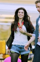 Meghan Ory on set of Once Upon a Time