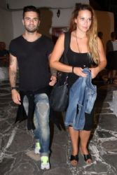 Sissi Hristidou and Thodoris Maradinis: Mykonos night look