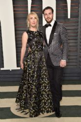 Sam Taylor-Johnson and Aaron Taylor-Johnson: 2016 Vanity Fair Oscar Party Hosted By Graydon Carter - Arrivals