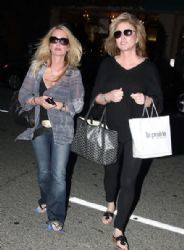 Kathy Hilton and half-sister Kim Richards in Beverly Hills