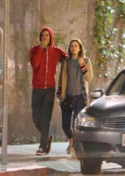 Leighton Meester and Adam Brody: in Los Angeles
