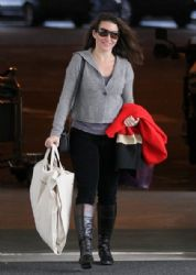 Kristen Davis: departing on a flight at LAX airport in Los Angeles