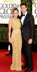 John Krasinski and Emily Blunt: arrives at the 70th Annual Golden Globe Awards held at The Beverly Hilton Hotel