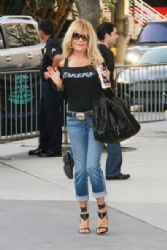 Dyan Cannon arriving at the Staples Centre to watch the LA Lakers game against the Dallas Mavericks