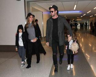 William Levy and Elizabeth Gutierrez Arrive at LAX