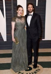 Kat Dennings and Josh Groban: 2015 Vanity Fair Oscar Party