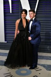 Priyanka Chopra and Nick Jonas: 2019 Vanity Fair Oscar Party Hosted By Radhika Jones - Arrivals