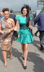 Danielle Lloyd: at Ladies Day at Aintree in Liverpool