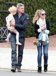 Eric Dane, Rebecca Gayheart, at Rachel Zoe's house in Beverly Hills, California on April 14