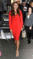 Brooke Shields: visits 'Good Morning America' in New York City