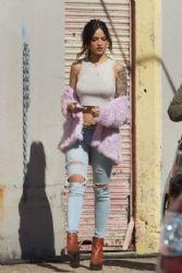 Eiza Gonzalez: On The Set Of Baby Driver