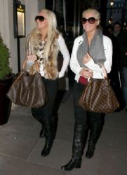 Karissa And Kristina Shannon Head Out In London
