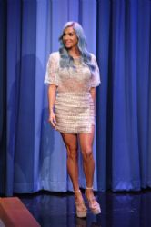 Kesha wears Elizabetta Franchi & SkaistTaylor - Tonight Show with Jimmy Fallon