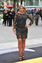 "Mary J Blige: the stars of ""Rock of Ages"" gathered at Odeon Leicester Square in London"