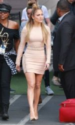 Jennifer Lopez at the American Idol studio for tonights taping in Hollywood
