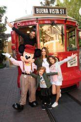 Jessica Alba and Her Family Visit Disney California Adventure