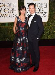 Sophie Hunter and Benedict Cumberbatch: 72nd Annual Golden Globe Awards 2015- Arrivals